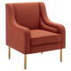 Tilton Accent Chair with Gold Legs