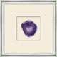 Shadowbox Purple Agate Slice Wall Art