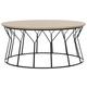 Iron Base Mid Century Wood Coffee Table