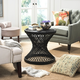 Rattan Small Bowed Accent Table