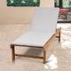 Teak Lounger with Light Grey Cushion