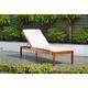 Eucalyptus Wood Lounger with White Cushion