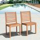 Eucalyptus Wood Sidechair (Set of 2)