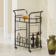 Rolling 2-Tier Serving Cart in Hammered Bronze Finish