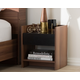 Vanda Two-Tone Wood 1-Drawer Nightstand