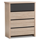 4 Drawer Two-Tone Wood Chest