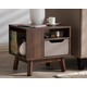 Britta Two-Tone Finished Wood Nightstand