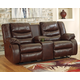 Linebacker Reclining Loveseat with Console
