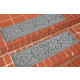 Home Accent Aqua Shield Scroll Stair Treads (Set of 4)