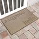Home Accent Aqua Shield Hello/Goodbye 2' x 3' Doormat