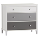 3 Drawer Monarch Hill Poppy Gray and White Dresser