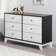 6 Drawer Rowan Valley Flint Black and White Dresser