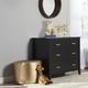 3 Drawer Monarch Hill Hawken Black Dresser