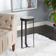 Batos Faux Marble Round Accent Table