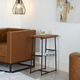 Derby Industrial Accent Table with Wire Magazine Rack
