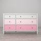 6 Drawer Monarch Hill Poppy Pink and White Dresser