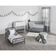 Metal Monarch Hill Ivy Gray Toddler Bed
