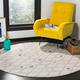 Power Loomed 6' x 6' Round Rug