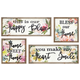Distressed Hillary Wall Decors (Set of 4)