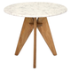 Kendel Tall Marble and Wood Table