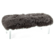 Luxus Arden Tibetan Fur and Acrylic Bench