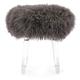 Luxus Airell Tibetan Fur and Acrylic Stool