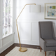 Contempo Gold Finish Arched Floor Lamp