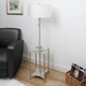 Contempo Floor Lamp with Silver Finish Side Table