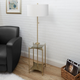 Contempo Floor Lamp with Gold Finish Side Table