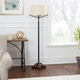 Contempo Cross-Base Floor Lamp with Textured Shade