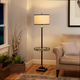 Contempo Floor Lamp with Shade and Glass Tray