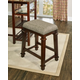 Backless Kennedy Backless Tweed Counter Stool