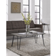Distressed Gray Finish Ashton Retro Coffee Table