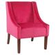 Modern Velvet Swoop Arm Accent Chair