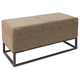 Square Bench with Upholstered Panel and Metal Frame