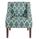 Classic Geometric Swoop Arm Chair