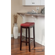 Backless Claridge Red Bar Stool