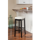 Backless Patches White Bar Stool