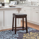 Backless Claridge Patches Brown Counter