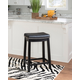 Backless Claridge Black Counter Stool