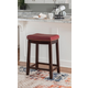 Backless Claridge Red Counter Stool