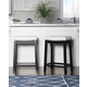 Backless Patches White Counter Height Bar Stool