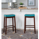 Backless Claridge Blue Bar Stool