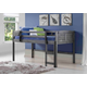 Kids Louvered Twin Low Loft Bed