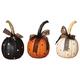 Decorative Polka Dot Halloween Pumpkins with Ribbon (Set of 3)