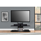 Two Shelved Ajax TV Stand with Mount for TVs up to 65