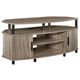 Oak Finish Delmar Corner TV Stand for TVs up to 50