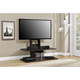 Espresso Finish Ajax TV Stand with Mount for TVs up to 65