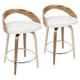 Howie Swivel Counter Stool (Set of 2)