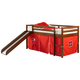 Twin Low Loft Tent Bed with Slide